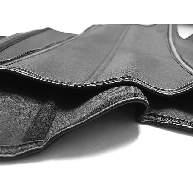S-6XL Abdominal Belt 7 Steel Boned High Compression Zip Neoprene Waist Cincher Sauna Corset Sweat Waist Trainer Body Shaper 5