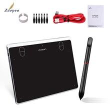 Acepen AP604 Digital Graphic Drawing Tablet Ultra-Thin Board 4 Shortcut Keys Battery-free