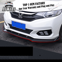Aiwins Fit for HONDA FIT JAZZ GK5 2014 2018 modified Front lip Automobile front lip Front bumper grill