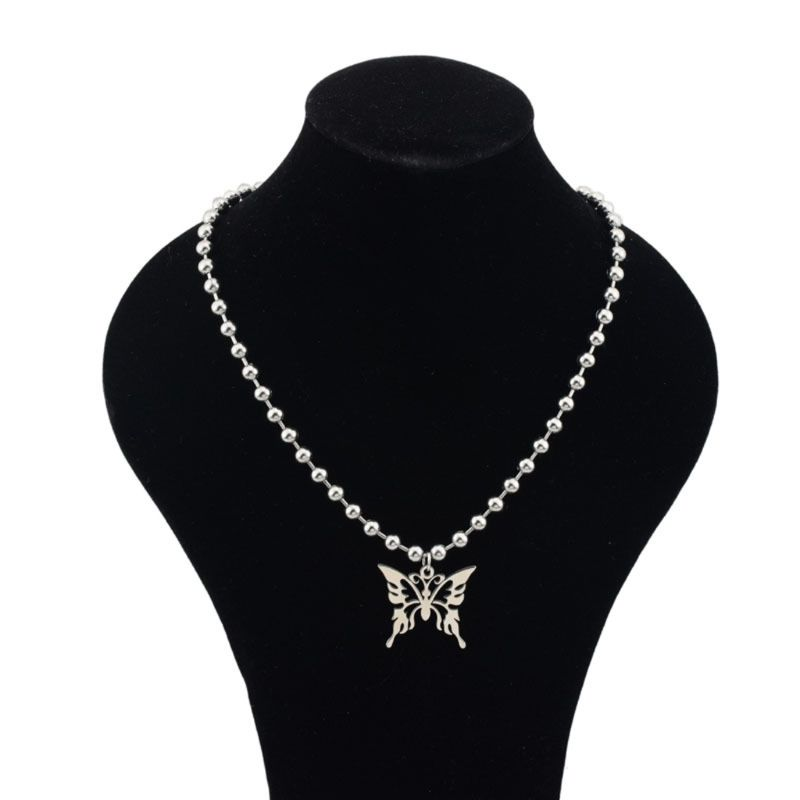 Ожерелье с подвеской в виде бабочки из нержавеющей стали