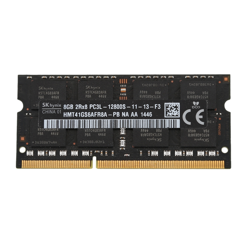 DDR3L <font><b>8GB</b></font> 1600MHz PC3L-12800S RAM Memory SODIMM Low Voltage 1.35V 204-PIN for Laptop <font><b>Notebook</b></font>(Black) image