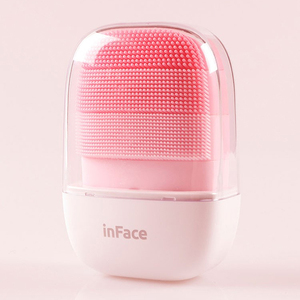 Image 5 - InFace Electric Sonic Facial Cleanser Waterproof Silicone Cleaning Brush Face Deep Cleansing Massager for Men Women