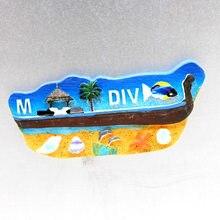 Maldive Doni la nave 3D magnetico frigorifero pasta di decorazione della casa mondiale del turismo souvenir Maldive Collezione Regalo frigorifero magneti