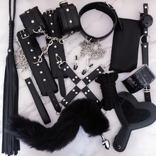 luxury brand Sex Toys for Woman Bdsm Bondage Set Collar Nipple Clamps Whip Butt Plug Erotic Porn Toys Handcuffs Sex Adult Games