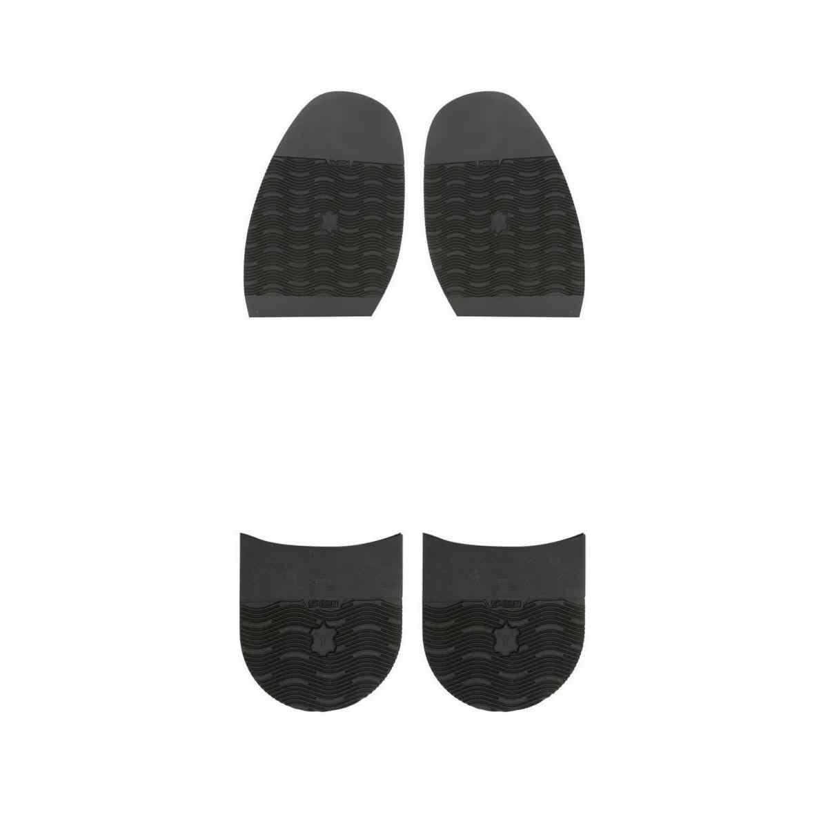 4 paket erkek ayakkabıları tamir kauçuk tabanı üzerinde sopa yarım Anti kayma siyah kalınlaşmak kauçuk taban topuk yumuşak tamir