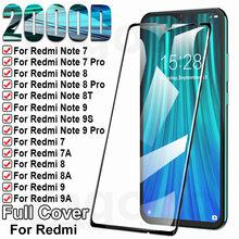 9H koruma cam Xiaomi Redmi için 8 8A 7 7A 9 9A 9C 9T temperli ekran koruyucu Redmi not 7 8 9 Pro 8T 9S güvenlik cam filmi