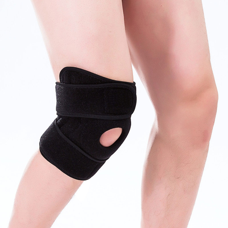 Knee Support Brace Kneepad  1PCS Adjustable Elastic Knee Pads Hole Sports Kneepad Safety Guard Strap For Running
