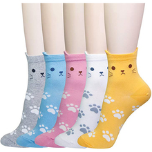 Spring new high quality socks animal cute cartoon cat womens cotton