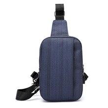 Chest Bag Men Women USB Charger Casual Messenger Bag Large Capacity Outdoor Travel Small Shoulder Bag Vintage Crossbody Bag цена