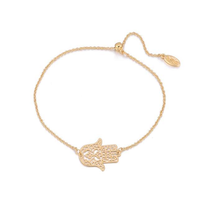 Tendance Fatima Main Charme bracelets pour femme Or Bijoux Hamsa Simple Réglable Bracelet pour les Femmes Cadeau Damitié 2020