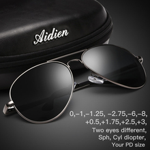 Myopia sunglasses diopter Polarized oversize prescription aviation sun glasses for nearsighted men women SPH CYL myopic shades