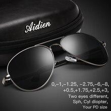 Myopia sunglasses diopter Polarized oversize prescription aviation