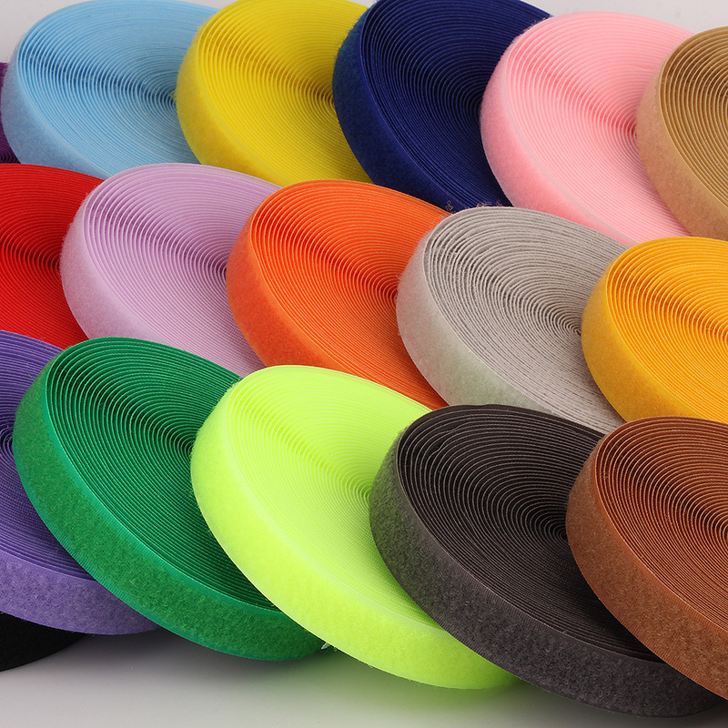 2cm 2Meters Pair Colorful Velcros Sticker Hook Loop Fastener Adhesive Tape Nylon Button Cable Ties Sewing Garment Bags Accessory