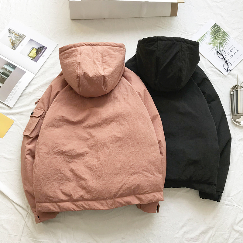 Men's Quality Student Winter Clothes Jacket Men Parka Thick Warm Outwear Korean Youth Streetwear Hip Hop Japan Style Harajuku 3