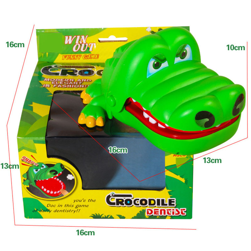 Whole person Mouth Dentist Bite Finger Toy Large Crocodile Pulling Teeth Bar Games Toys Kids Funny Toy For Children Gift image