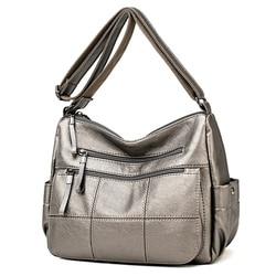Bolso de mano de cuero suave caliente de lujo para mujer bolsos de mano para mujer bolsos bandolera de hombro bolsas de hilo saco principal para mujer