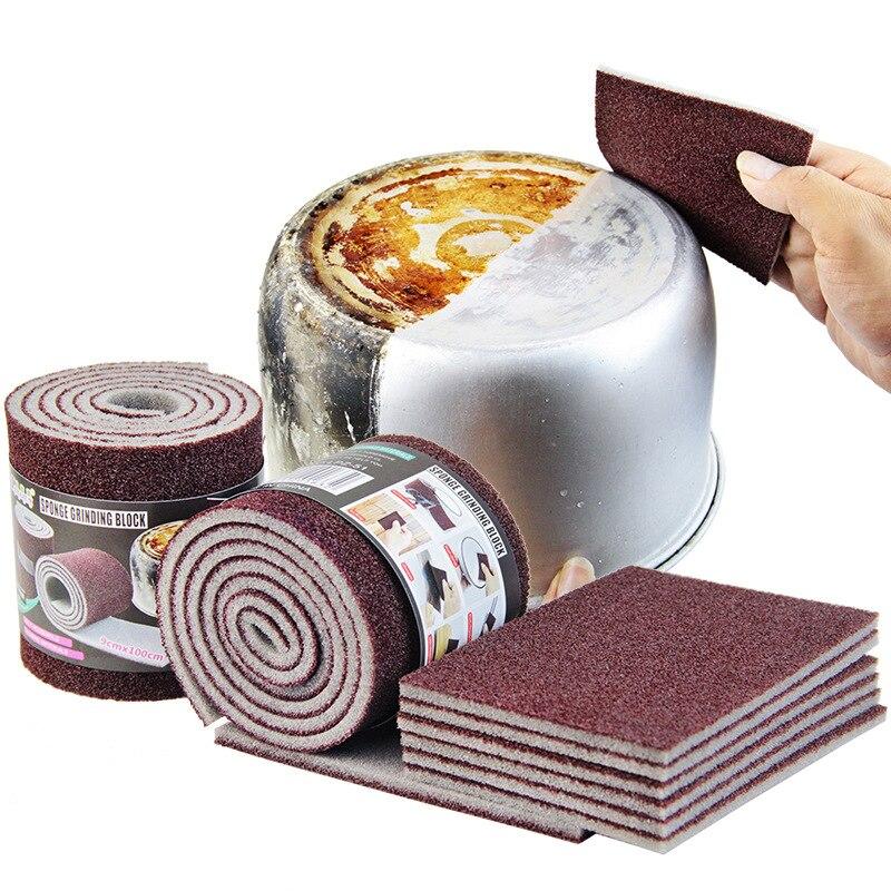 Gomme magique en mélamine   Gomme à Carborundum éponge de cuisine pour Pot à poêle, éponges à vaisselle, ustensiles de cuisine, articles de nettoyage ménagers