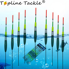 Topline Tackle fishing floats night EVA Luminous led set bobber glowing  float buoy For carp Fishing Accessories