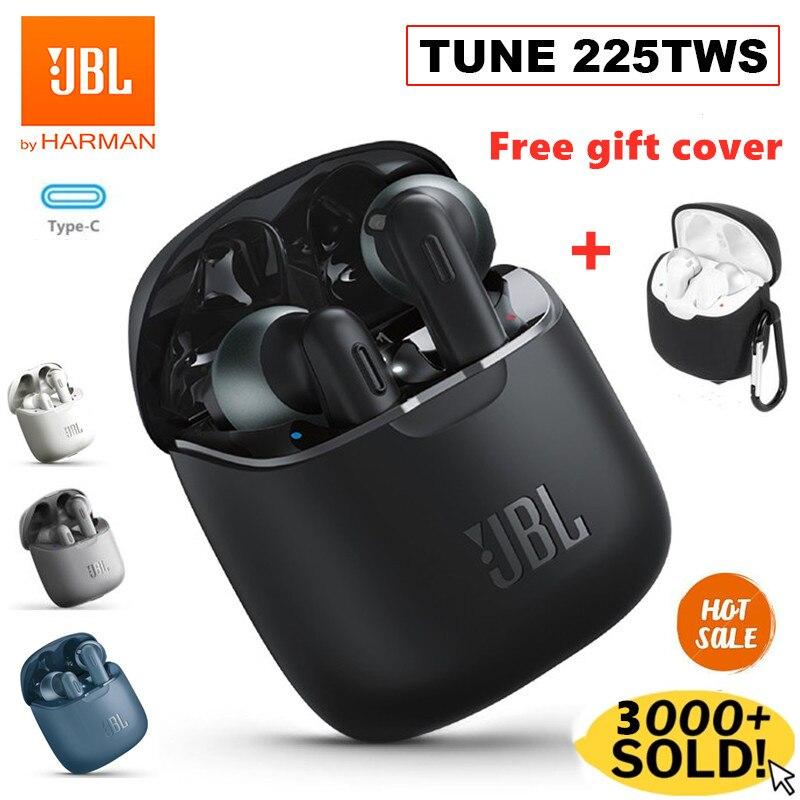Original JBL TUNE 225TWS Wireless Bluetooth Earphones JBL T225TWS Stereo Earbuds Bass...