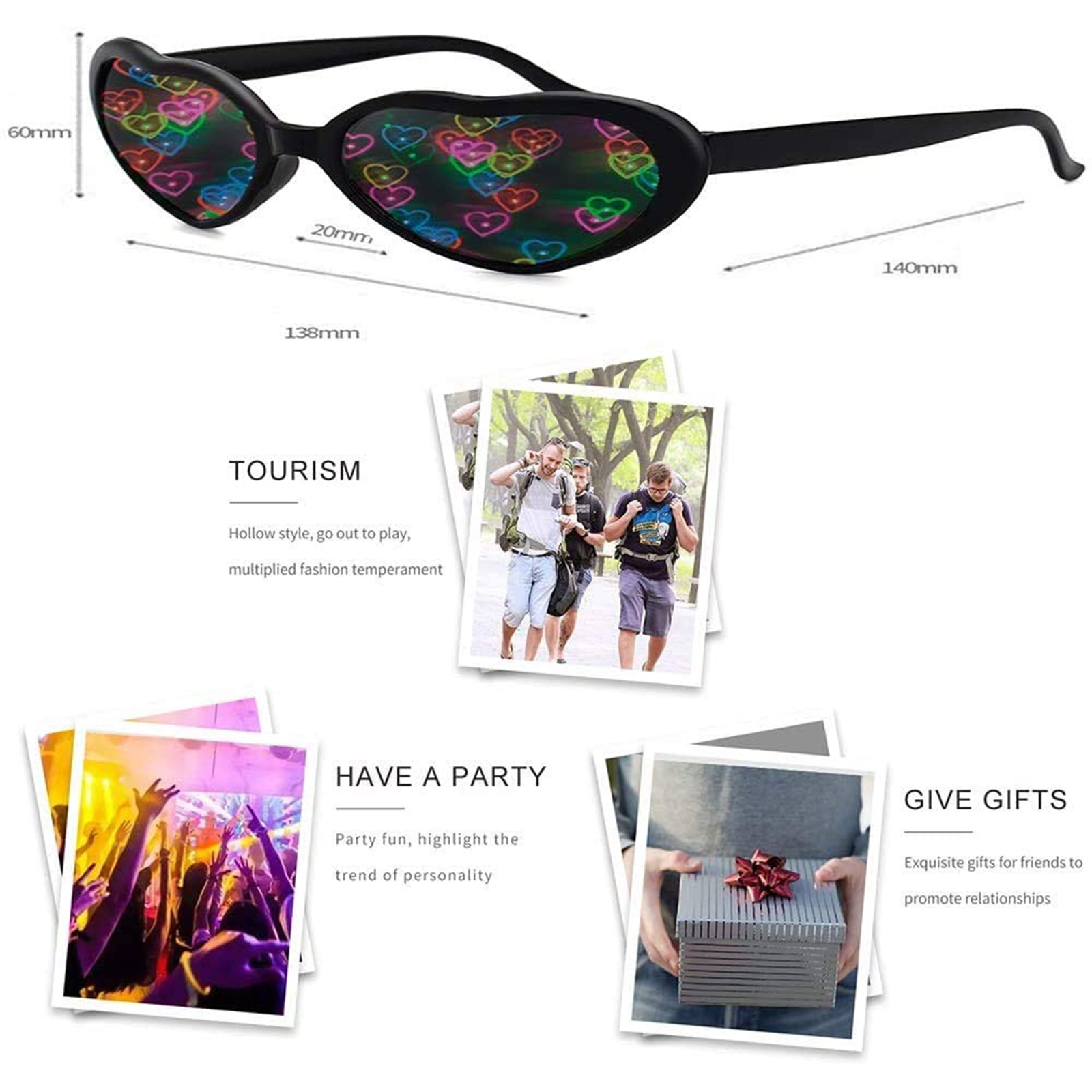 Party Rave Glasses Consumer Electronics VR/AR Devices