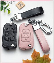 New Leather Car Key Cover Case For Hyundai Elantra Accent i20 i30 ix35 Creta Solaris Santa Fe Verna Tucson i35 i40 Genesis Fe