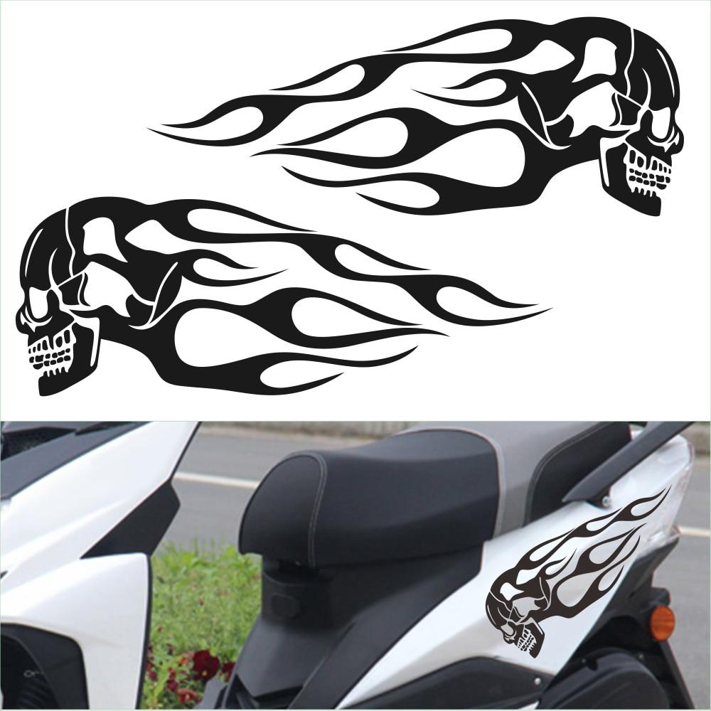 """Motorcycle Flames Vinyl Helmet Decals Window Stickers 2-6/"""" x 3/"""""""