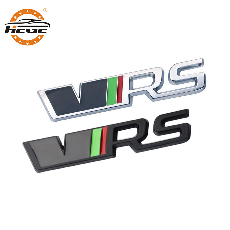Car 3D Metal VRS Decal Sticker For Vw Skoda Rapid Yeti Octavia Fabia Logo Car Body Tail Emblems Badge Side Fender Stickers