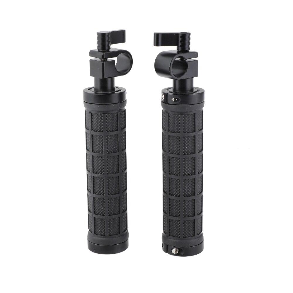Kayulin 2x nouvelles poignées de poignée de caméra de bride de tige de 15mm pour la plate-forme de Support de DSLR de bâti d'épaule