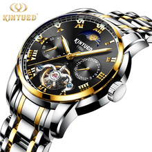 KINYUED, Sapphire Synthetic Mirror, Independent Chronograph Second Hand, Swiss Automatic Hollow Mechanical Watch Men's Watches automatic text independent speaker recognition using source feature