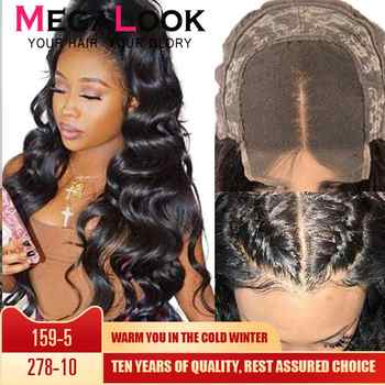 4x4 Closure Wigs Lace Megalook Remy Natural 30inch MegalookBrazilian Human Hair Wigs Body Wave Human Hair Wigs Lace Closure Wig - DISCOUNT ITEM  46% OFF All Category