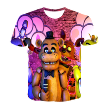 3D T Shirt Freddy's Five Night High Quality Children t shirt Boys/Girls Clothes Kid's T-shirt Kpop FNAF Cartoon anime Tees