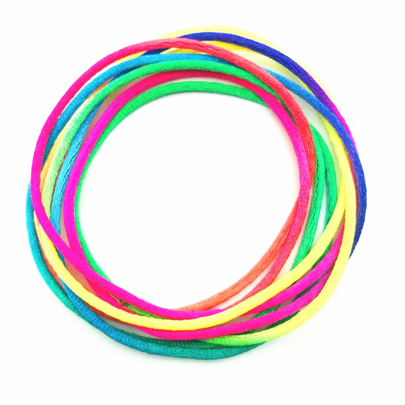 3PCS Kids Rainbow Colour Fumble Finger Thread Rope String Game Developmental Toy AXYA