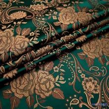 75cm Peony flower Silk Damask Fabric Brocade Jacquard Fabrics Cheongsam Kimono Dress DIY Sewing Clothing Material