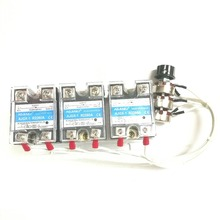 цена на Three phase 380V integrated AC voltage regulating module high power furnace wire 20K60A SCR thermostat