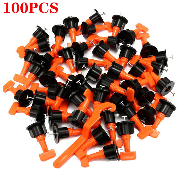 100pcs ceramic tile leveling system for floor tile laying construction tools professional svp laying tiles
