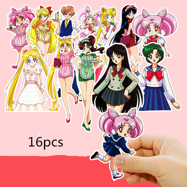 Cartoon Beauty Girl Stickers Crafts And Scrapbooking Stickers Book Student Label Decorative Sticker Kids Toys
