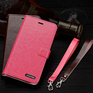 Image 4 - Flip Phone Case For Xiaomi Mi 5s Plus 6 8 9 lite 9se 9T Pro Case Oil wax skin Lanyard Cover