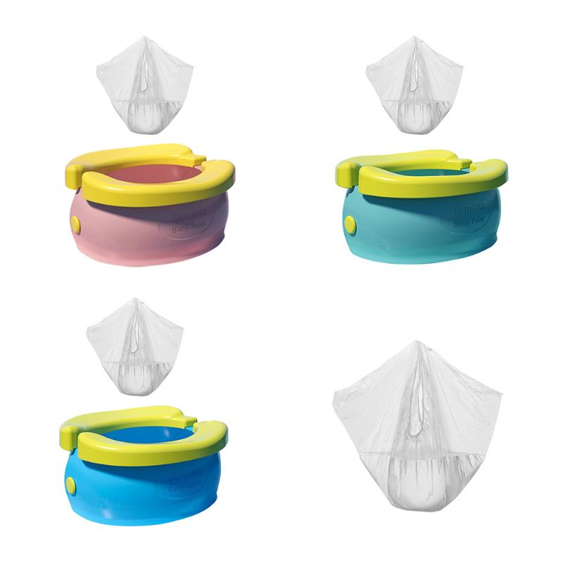 Portable Baby Infant Chamber Pots Cartoon Banana Foldaway Toilet Training Seat Travel Potty Rings For Kids