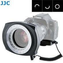 JJC Camera LED Flash Left/Right Half Whole Video Speedlite Macro Ring Light for Canon 5D3 5DS 5D4 80D 77D 800D Nikon D7200 D750