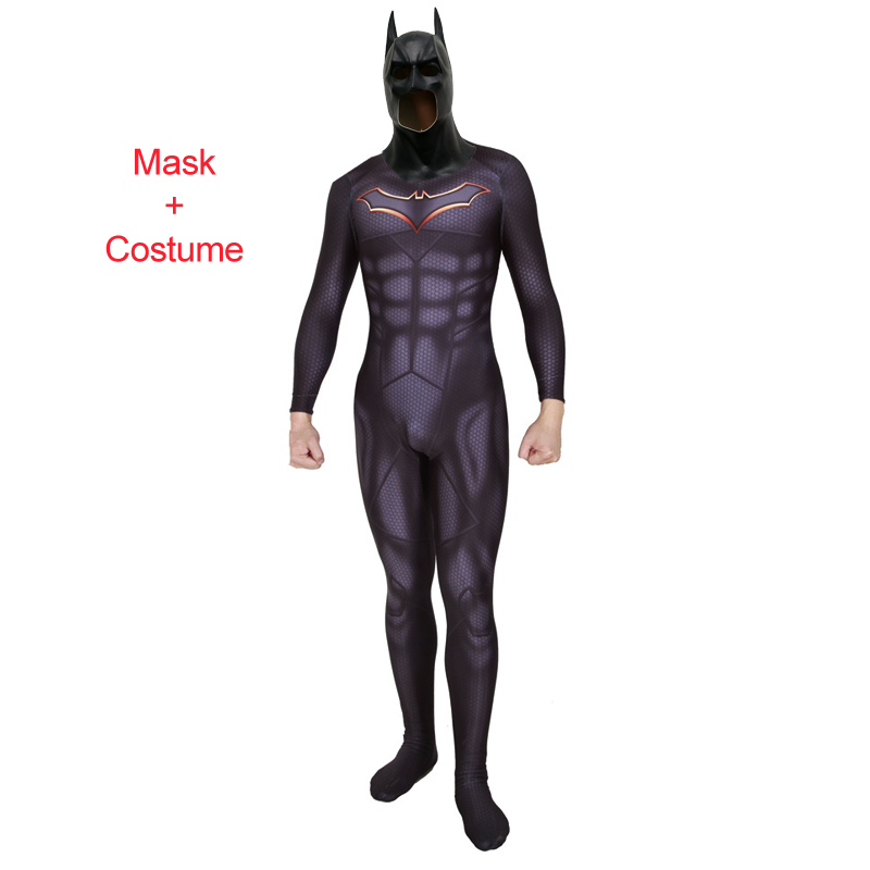 Adult Kids Superhero Batman Rebirth Bruce Wayne Cosplay Costume Zentai Bodysuit Suit Jumpsuits