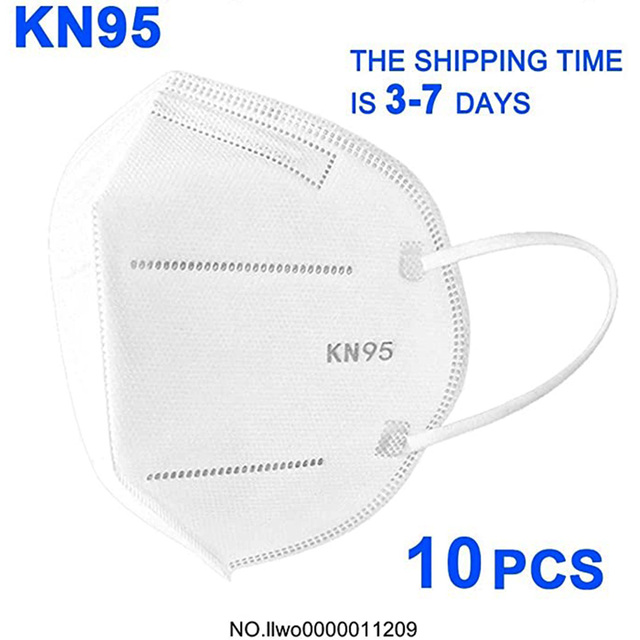Fast Delivery 10pcs KN95 N95 Face Mask for Virus Protection 3 Ply Mask Disposable Anti Virus Surgical Face Mask Flu Safty Mask