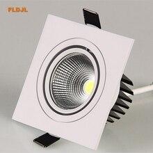 Светодиодный потолочный светильник, квадратный, 7 Вт, 9 Вт, 12 Вт, светодиодный, с регулируемой яркостью