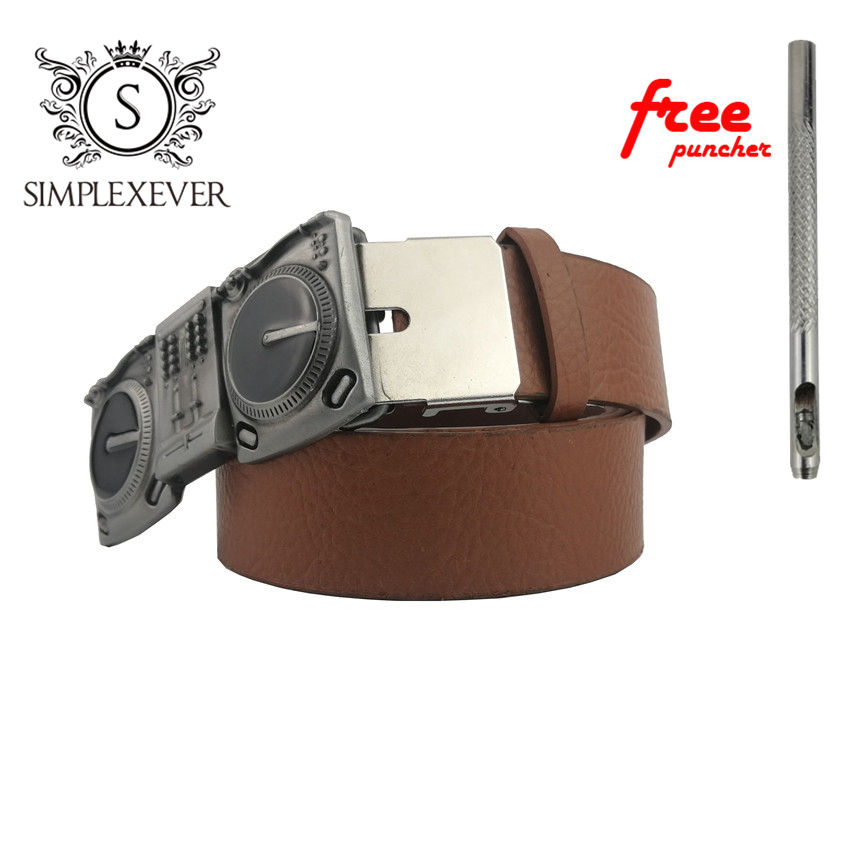 Musical Instrument Metal Belt Buckle Western Music Silver Pin Buckles Mens' Belt Buckle With Leather Belt