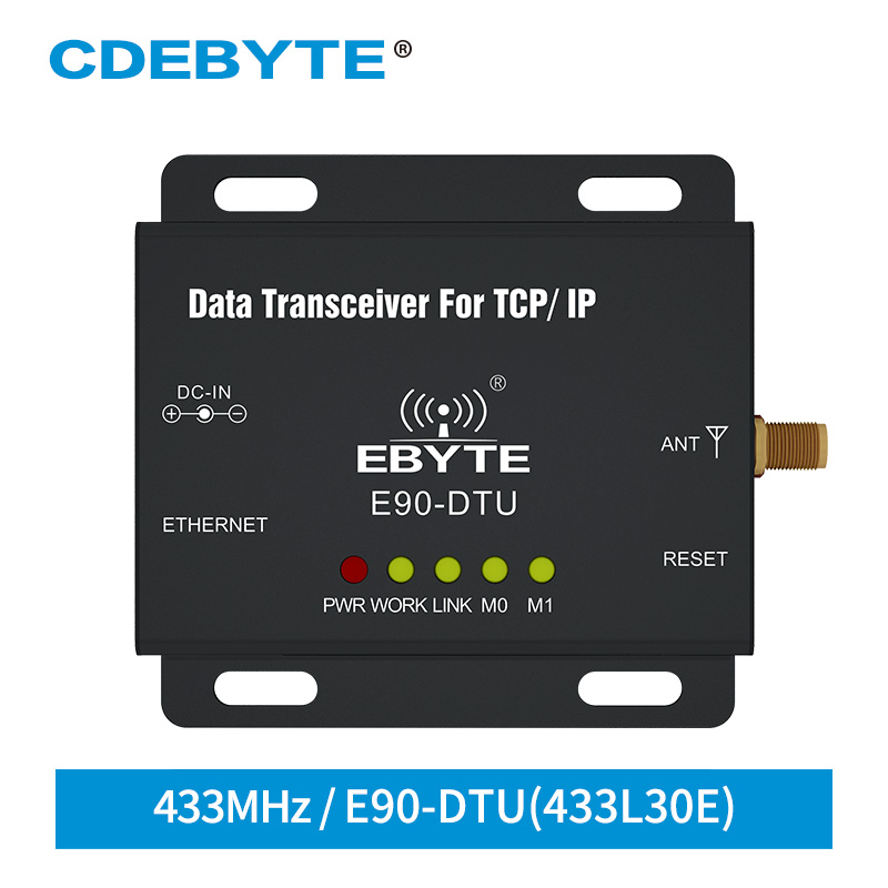 E90-DTU-433L30E Ethernet LoRa Long Range 433MHz 1W IoT Uhf Wireless Transceiver Rf Module 433 MHz Transmitter And Receiver