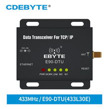 Transmisor y receptor E90 DTU 433L30E Ethernet LoRa, largo alcance, 433 MHz, 1W IoT, uhf, inalámbrico, módulo de radiofrecuencia, 433 MHz