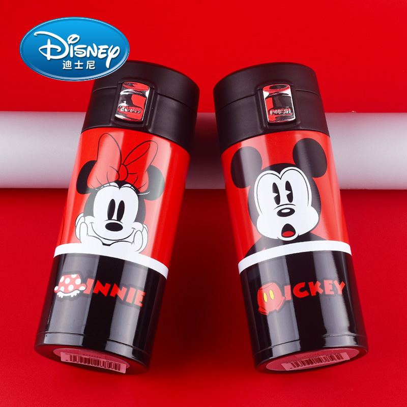 350ml Disney Cartoon Baby Cup 304 Stainless Steel Mug Portable Leak Proof Children Water Bottle Cute Vacuum Drinkware