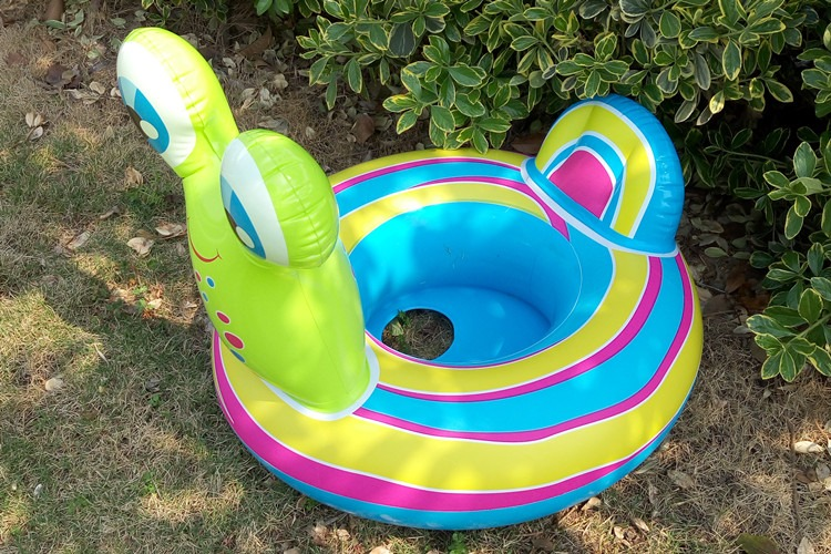 Inflatable Animal Cute Snail Boat Inflatable Outdoor For Baby Play Water Toy Riding Swim Ring Pool Toy Summer Ride-on Floating