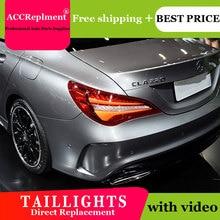 רכב סטיילינג LED זנב אורות עבור בנץ CLA 2014 2019 טאיליט LED ריצת אור + תור דינמי אות + הפוך + בלם סט