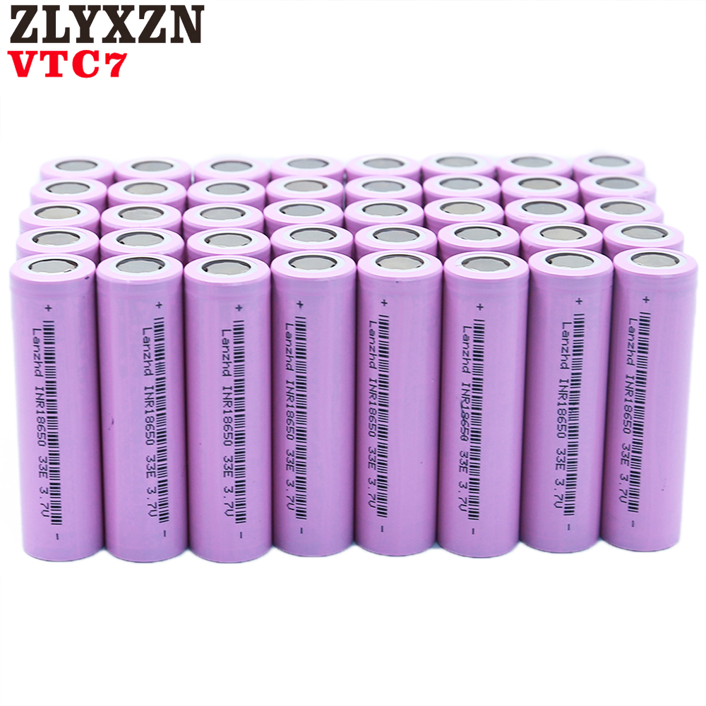 8 40PCS NEW 18650 Rechargeable Batteries For Samsung 18650 Battery 3300mAh INR18650 30A lithium Li ion 3 7V 18650VTC7 18650 in Rechargeable Batteries from Consumer Electronics