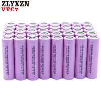 8 40PCS NEW 18650 Rechargeable Batteries For Samsung 18650 Battery 3300mAh INR18650 30A lithium Li ion 3.7V 18650VTC7 18650